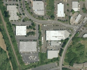 arial warehouse view