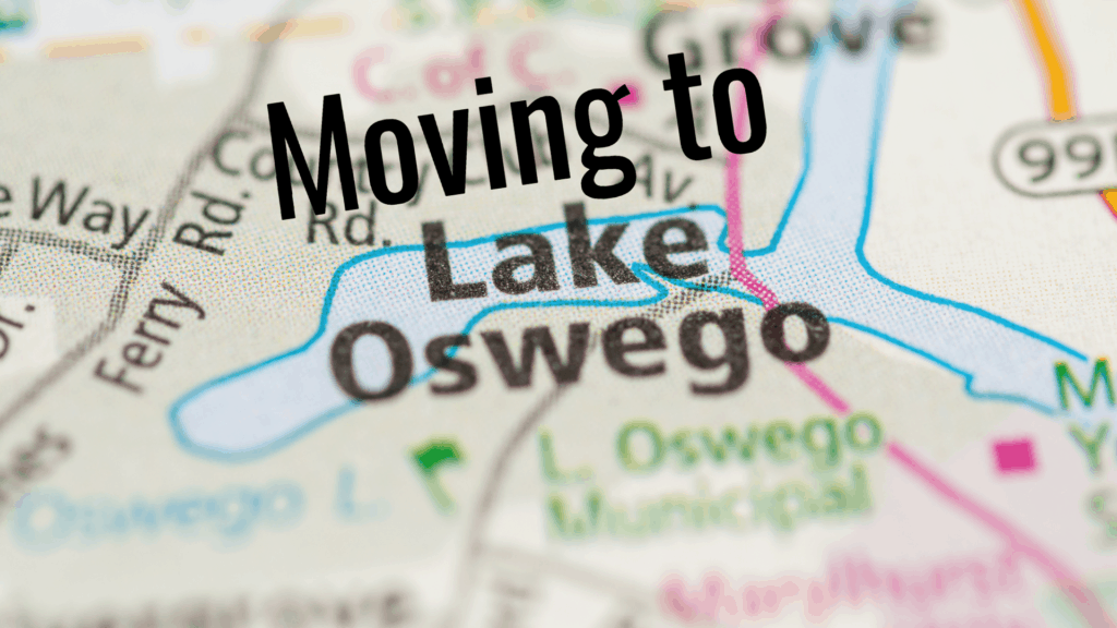 Map of Lake Oswego.