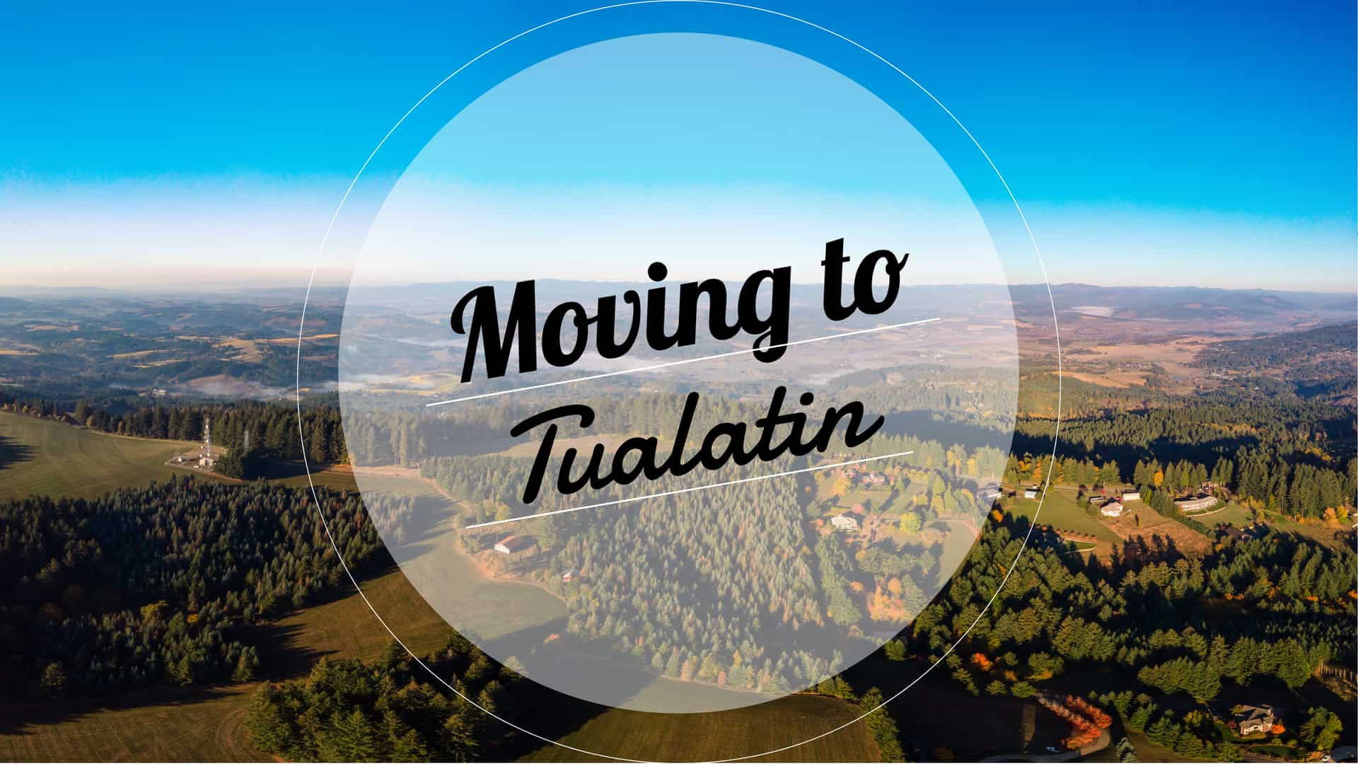 Aerial view of the Tualatin Valley in Oregon.