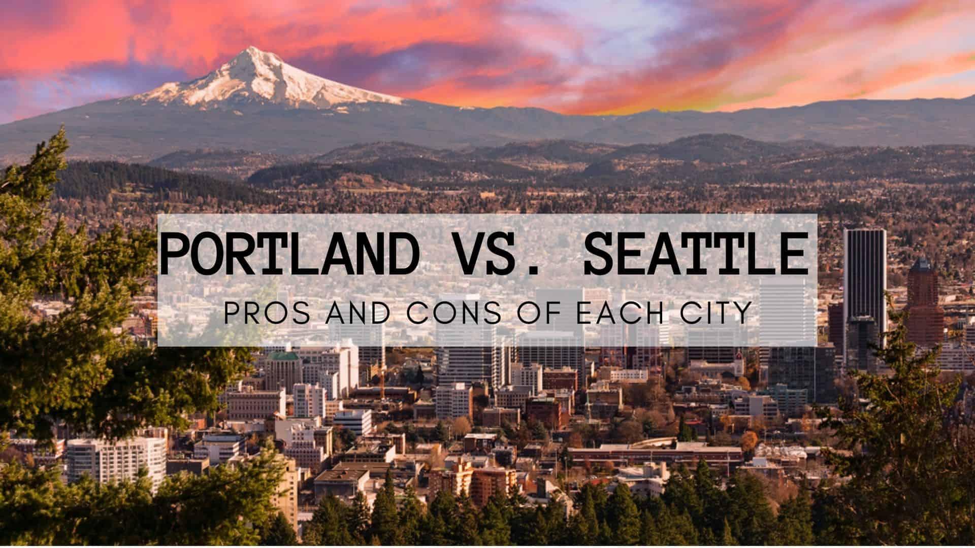 Portland Vs Seattle