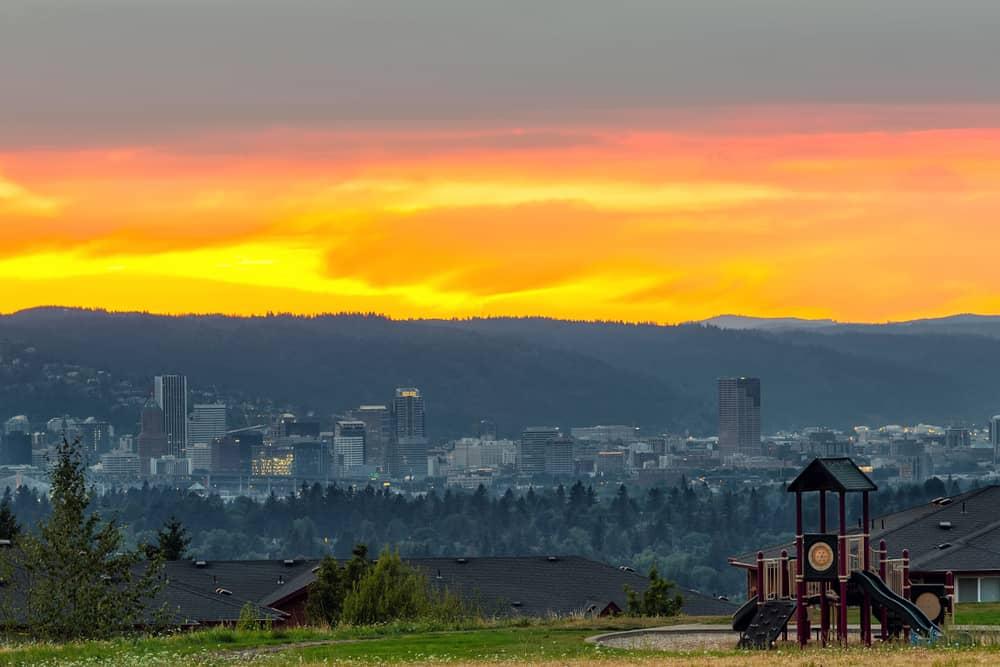 Sunset over Concordia neighborhood